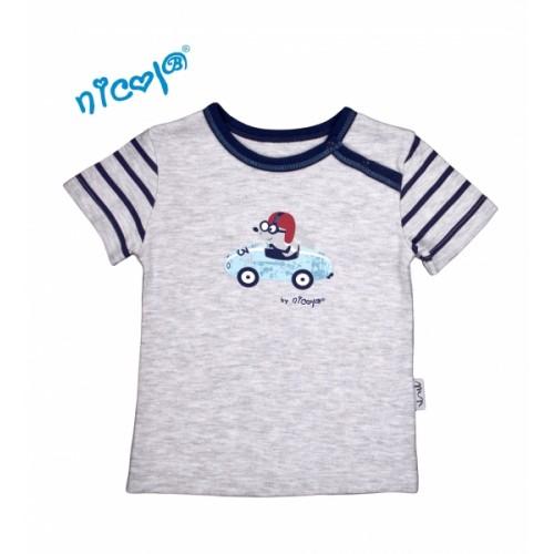 Bavlnené tričko Nicol, Car - krátky rukáv  - 56 (1-2m)